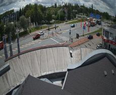 Hradec Králové - křižovatka Tesla